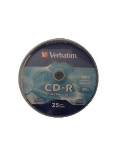 TARRINA 25 CD VERBATIM 52X 700MB