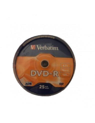 TARRINA 25 DVD-R VERBATIM 4,7GB 16X 120