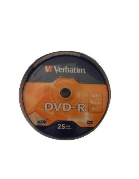 TARRINA 25 DVD VERBATIM 4.7 GB 16 X 12