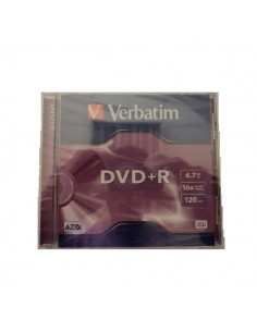 DVD VERBATIM +R 1 UND CON CAJA 7GB 120