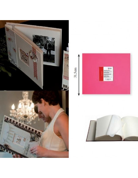 ALBUM DE FOTOS PARA MANUALIDADES COMO SCRAPBOOKING COLOR FUCSIA
