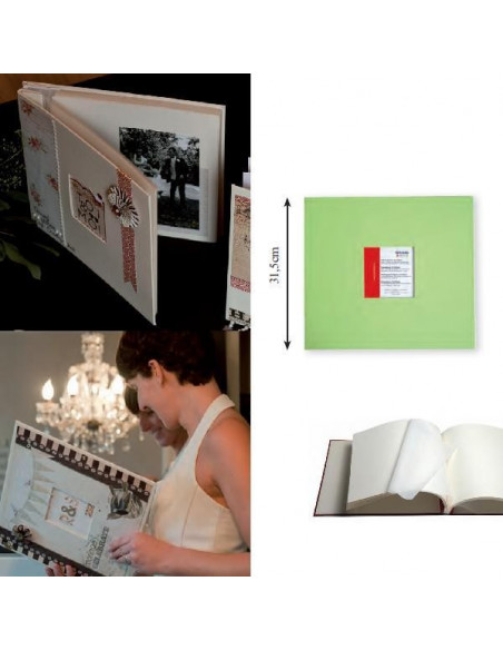 ALBUM DE FOTOS PARA MANUALIDADES COMO SCRAPBOOKING COLOR VERDE