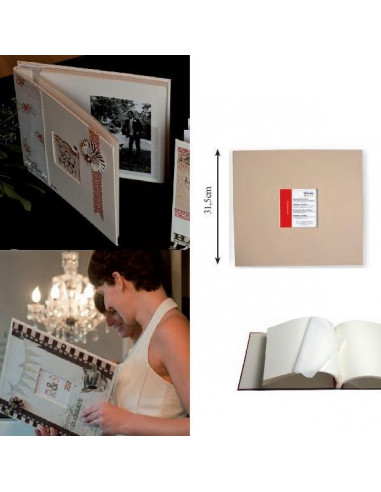 ALBUM DE FOTOS PARA MANUALIDADES COMO SCRAPBOOKING COLOR BEIGE