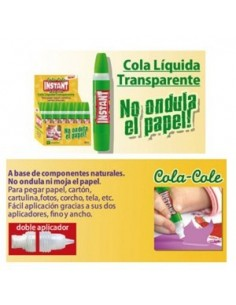 COLA INSTANT TRANSPARENTE DE 35 ML DOBLE APLICADOR