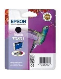 CARTUCHO ORIGINAL EPSON T0801 NEGRO (SERIE COLIBRI)