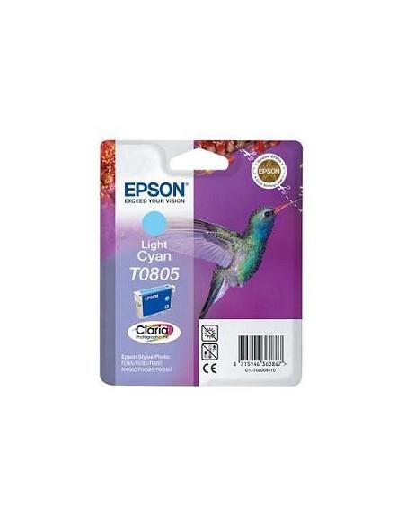 CARTUCHO ORIGINAL EPSON T0805 CYAN CLARO (SERIE COLIBRÍ)