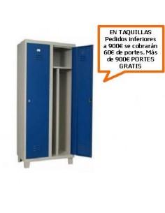 TAQUILLA - ARMARIO MONOBLOCK DE 400MM. DE 2 PUERTAS CON SEPARADOR INTERIOR
