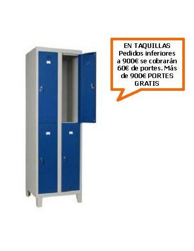 TAQUILLA - ARMARIO DOBLE MONOBLOCK 300MM. 4 PUERTAS
