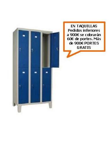 TAQUILLA - ARMARIO DOBLE MONOBLOCK 300MM. 6 PUERTAS
