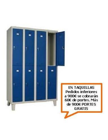 TAQUILLA - ARMARIO DOBLE MONOBLOCK 300MM. 8 PUERTAS