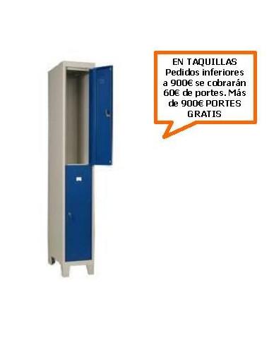 TAQUILLA - ARMARIO DOBLE MONOBLOCK 400MM. 2 PUERTAS