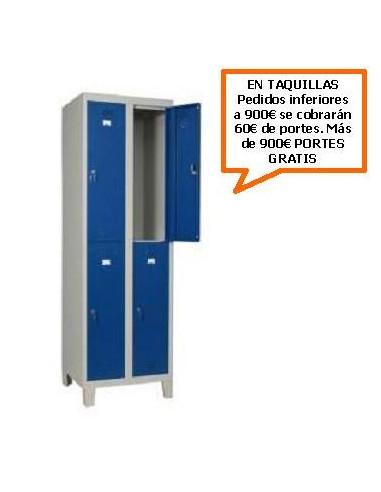 TAQUILLA - ARMARIO DOBLE MONOBLOCK 400MM. 4 PUERTAS
