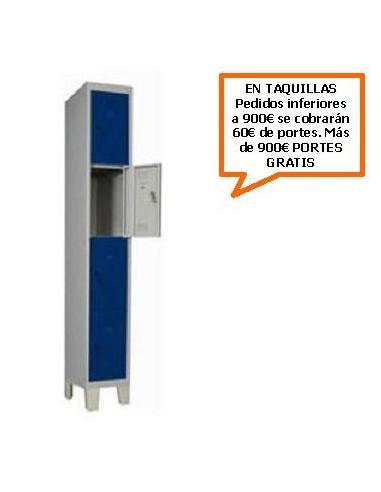 TAQUILLA - ARMARIO CUADRUPLE MONOBLOCK 300MM.