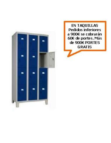 TAQUILLA - ARMARIO CUADRUPLE MONOBLOCK 300MM. 12 PUERTAS
