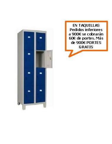TAQUILLA - ARMARIO CUADRUPLE MONOBLOCK 400MM. 8 PUERTAS