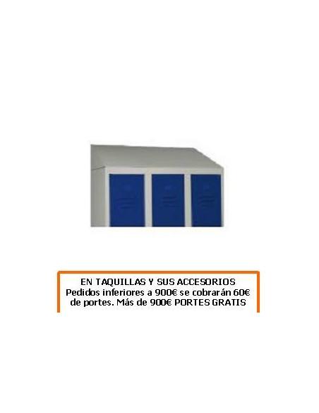 TECHO INCLINADO PARA 2 TAQUILLAS DE 800MM. DE ANCHO