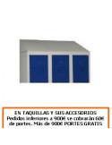 TECHO INCLINADO PARA 3 TAQUILLAS DE 300MM. DE ANCHO