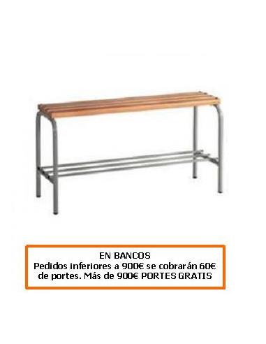 BANCO DE ACERO CON LISTONES DE ABETO 500 MM