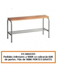 BANCO DE ACERO CON LISTONES DE ABETO 1000 MM.