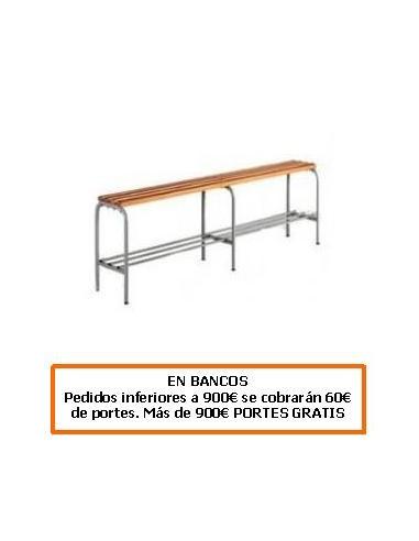 BANCO DE ACERO CON LISTONES DE ABETO 1500 MM.