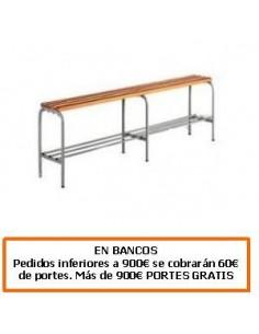 BANCO DE ACERO CON LISTONES DE ABETO 2000 MM.