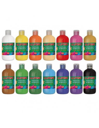 BOTELLA DE PINTURA ACRILICA ALPINO 250 ML UNICOLOR MARRÓN