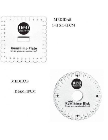 TELAR DE KUMIHIMO DE LA MARCA NEO BISUTERIA CUADRADO CON UN TAMAÑO DE 14.2 X 14.2 CM (1UND)