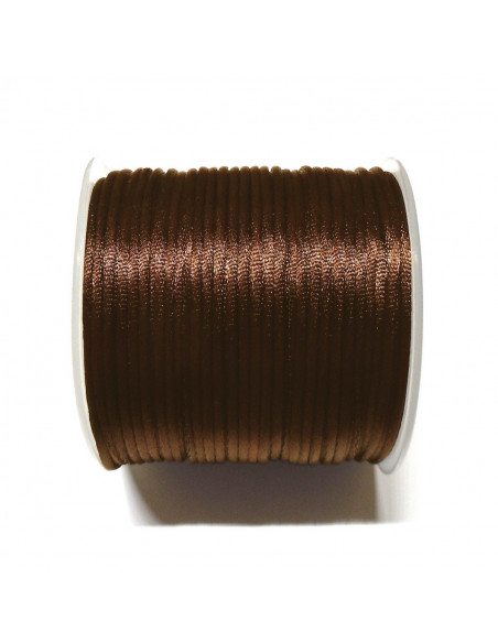CORDON DE COLA DE RATON 2MM x 5MTS COLOR MARRON | NEO BISUTERIA