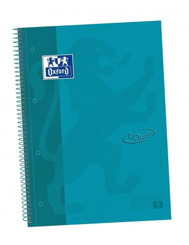 EBOOK 1 TAMAÑO A4+ CON 80 HOJAS PAUTA OXSOFT TOUCH DE TAPA DURA DE LA MARCA OXFORD COLOR AQUA