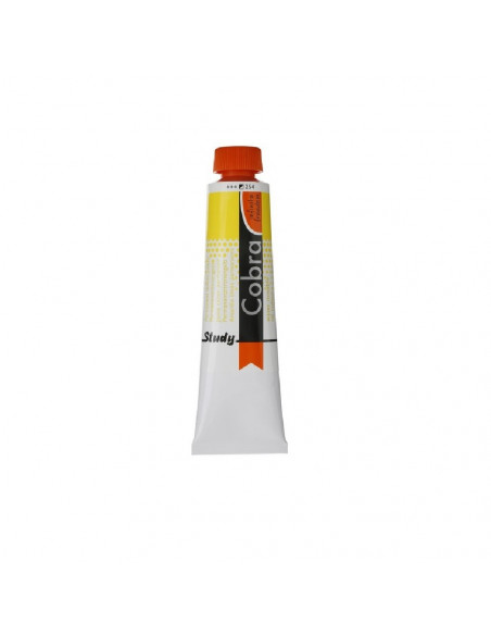 PINTURA PARA OLEO COBRA STUDIO EN BOTE DE 40ML MARCA COBRA COLOR AMARILLO LIMON PERMANENTE
