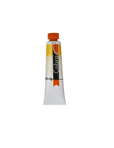 PINTURA PARA OLEO COBRA STUDIO EN BOTE DE 40ML MARCA COBRA COLOR AMARILLO PERMANENTE MEDIO