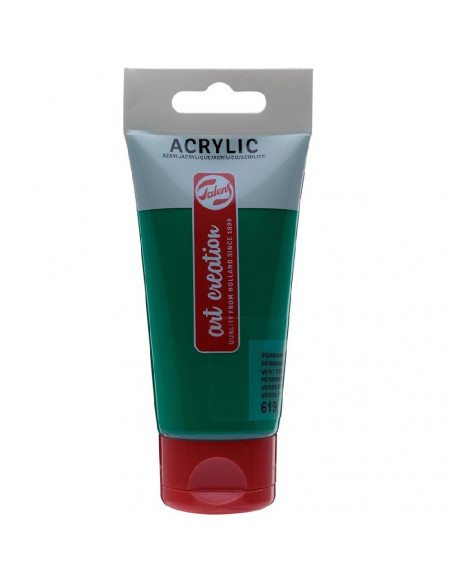 ACRILICO EN TUBO DE 75 ML TALENS ART CREATION COLOR VERDE PERMANENTE OSCURO