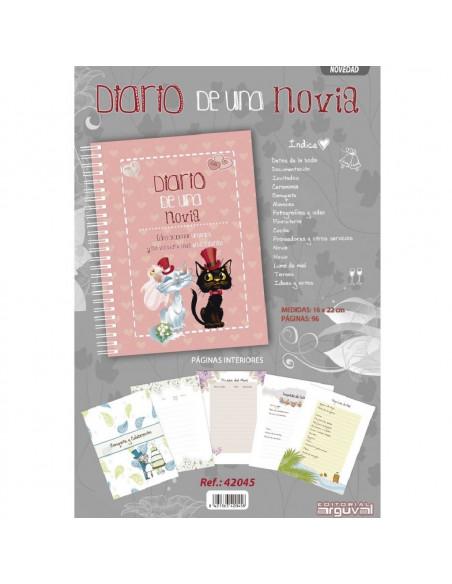 AGENDA DIARIO DE UNA NOVIA EN COLOR ROSA DE LA MARCA ARGUVAL CON UN TAMAÑO DE 12 X 22 CM 96 PAGINAS