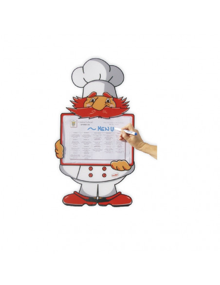 CARTEL PARA MOSTRAR EL MENU MR. CHEF MARCA HENBEA
