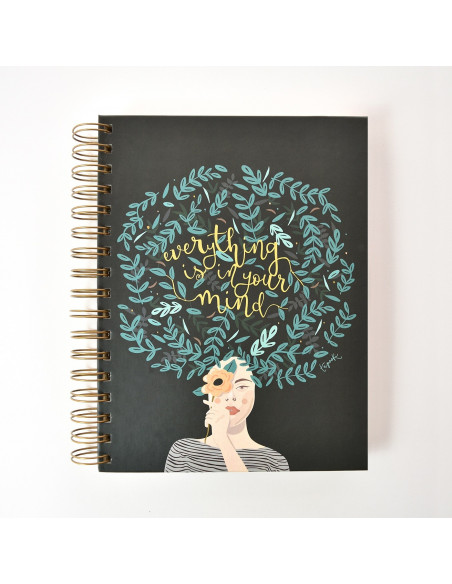 """CUADERNO DE LA MARCA TAPOOKI MODELO """"EVERYTHING IS IN YOUR MIND"""" 22X17 CM"""