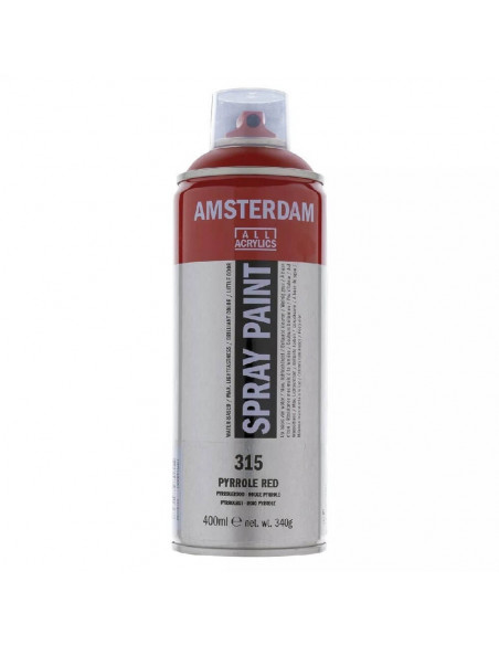 SPRAY ACRILICO 400 ML AMSTERDAM ROJO PYRROLE