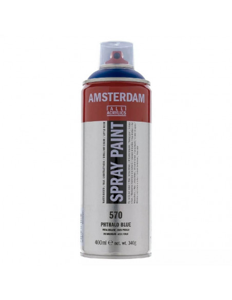 SPRAY ACRILICO 400 ML AMSTERDAM AZUL FTALO