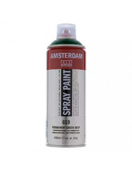 SPRAY ACRILICO 400ML AMSTERDAM VERDE OSCURO