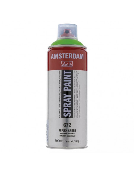 SPRAY ACRILICO 400 ML AMSTERDAM VERDE REFLEX