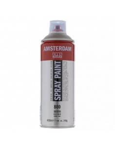 SPRAY ACRILICO 400 ML AMSTERDAM PLATA