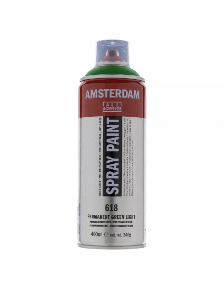 SPRAY ACRILICO 400 ML AMSTERDAM VERDE PERMANENTE CLARO