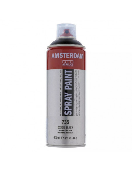 SPRAY ACRILICO 400 ML AMSTERDAM NEGRO OXIDO