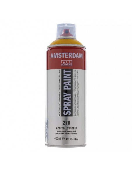 SPRAY ACRILICO 400 ML AMSTERDAM AMARILLO AZO OSCURO