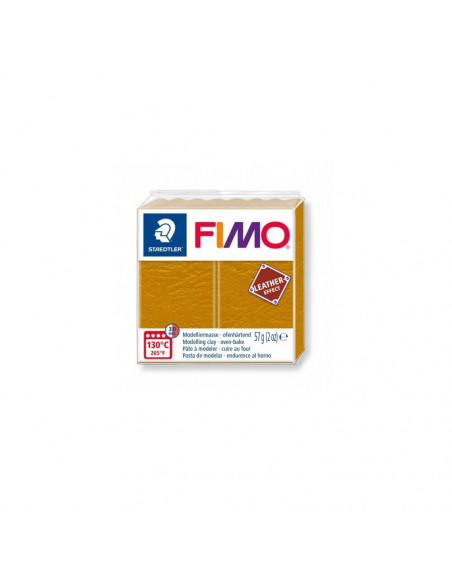 FIMO LEATHER EFFECT 57 GR OCRE