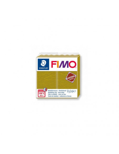 FIMO LEATHER EFFECT 57 GR OLIVA