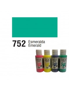 SILK COLOR BASIC COLOR ESMERALDA BOTE DE 60 ML CON TAPON BISAGRA DE LA MARCA VALLEJO