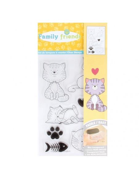 SET 8 SELLOS FAMILY CATS