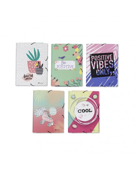 POSITIVE GIRLS CARPETA A4 FOLIO GOMAS Y SOLAPAS