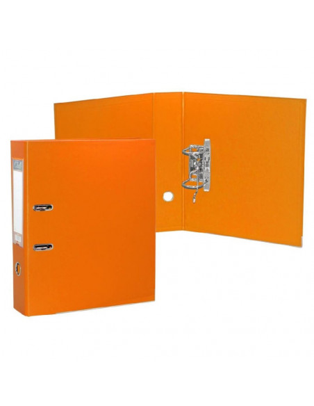 OFFICE CLUB ARCHIVADOR A-Z PVC FOLIO LOMO 75 MM NARANJA