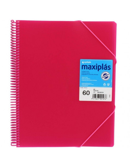 CARPETA MAXIPLAS A4 CON 60 FUNDAS LIKE COLOR FUCSIA